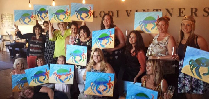 Sip and Paint participants earlier this year.